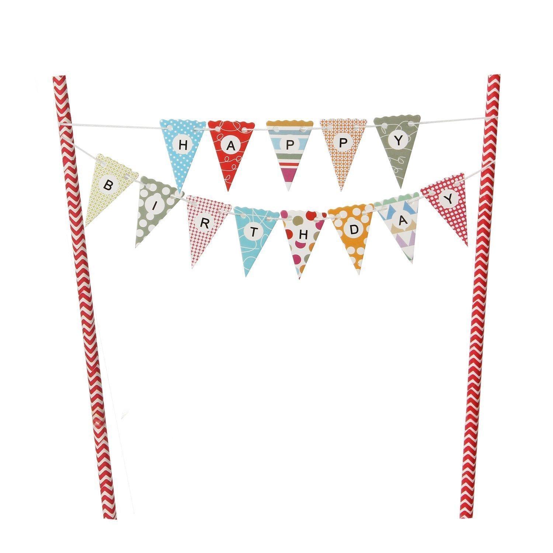 Mini Happy Birthday Flag